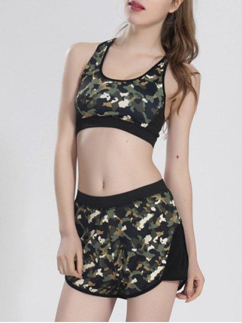 fashion Camoflage Shorts Set - CAMOUFLAGE L Mobile