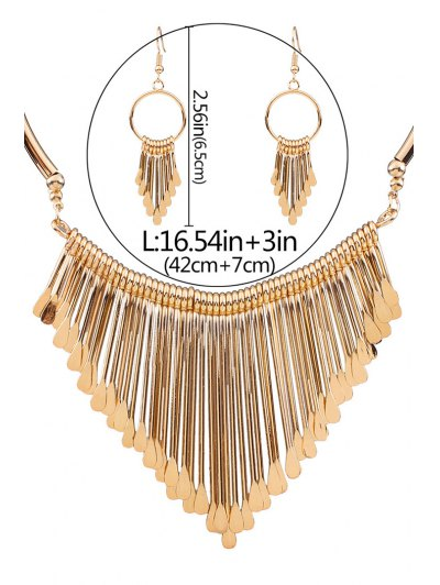 Alloy Tassel Necklace and Earrings от Zaful.com INT