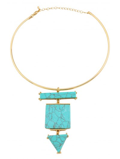 Geometric Turquoise Necklace от Zaful.com INT