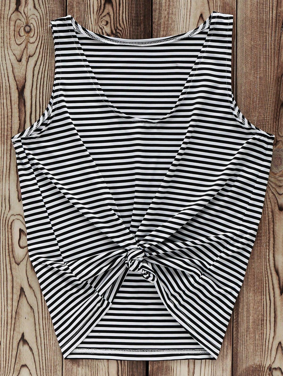 Striped V-Neck Tank Top