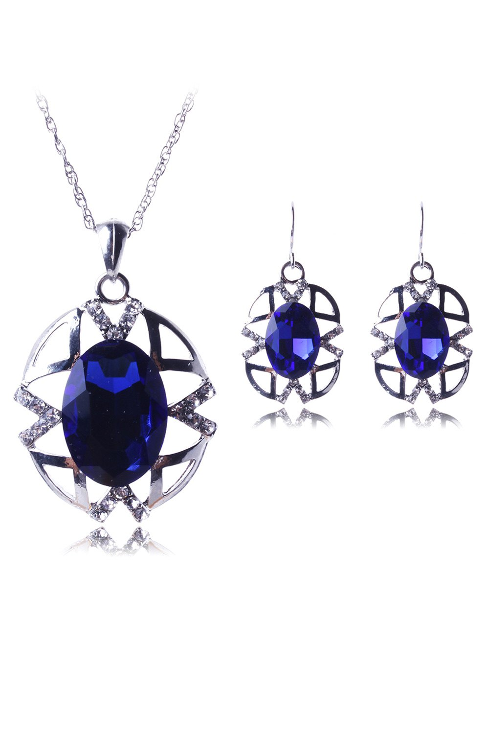 Hollow Out Jewelry Pendant Necklace and Earrings