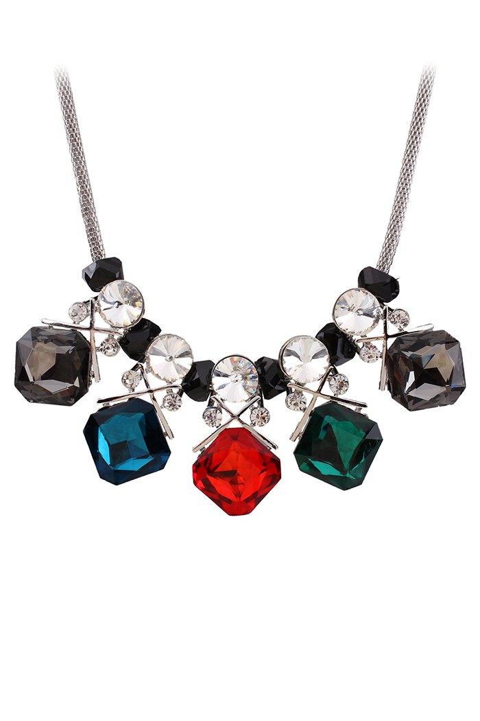 Quadrate Jewelry NecklaceAccessories<br><br><br>Color: SILVER
