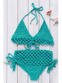 High-Rise Crochet Bikini Set