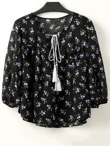 Full Tiny Floral Half Sleeve Blouse