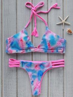 Tie Dye Halter Bikini Set - M
