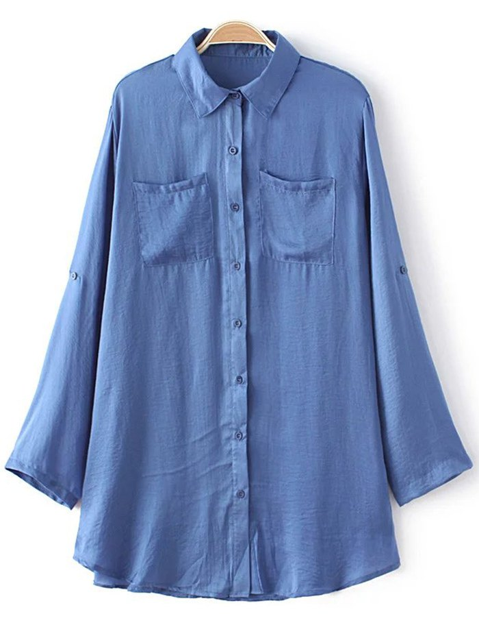 Blue Oversized Shirt