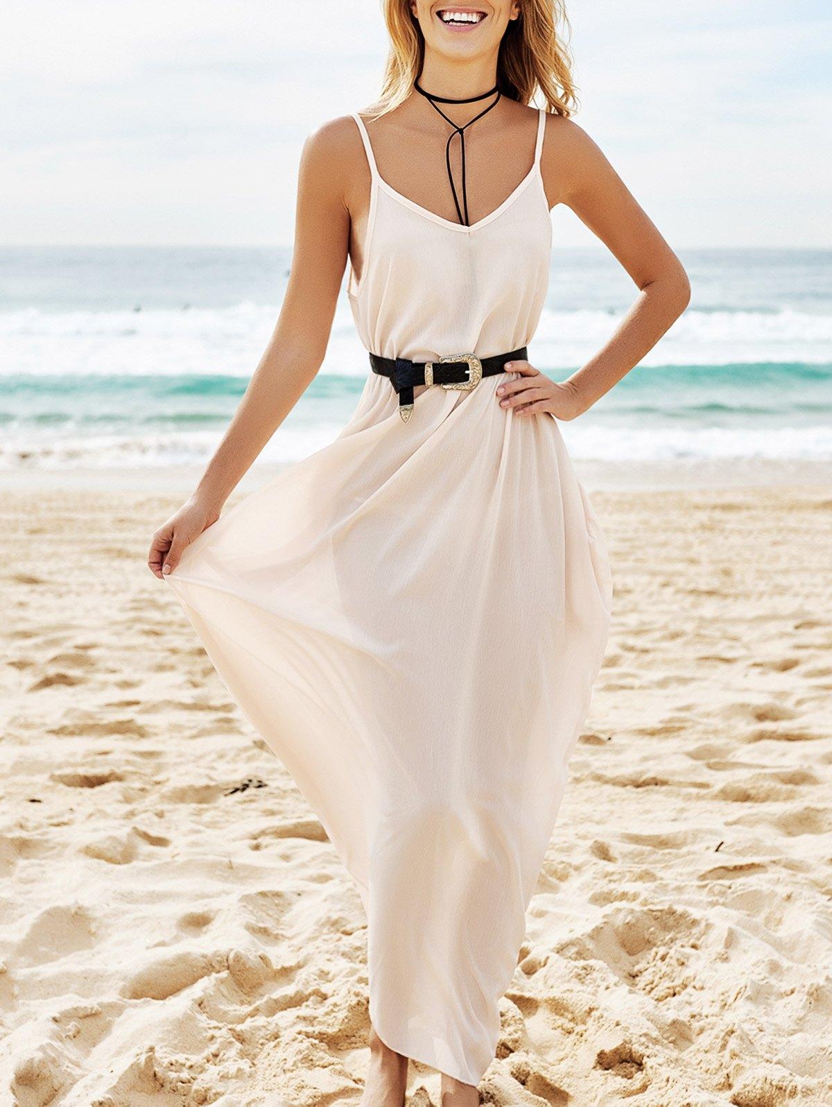 Cami Solid Color Maxi Dress