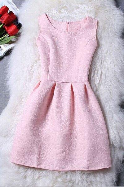 Sleeveless Jacquard Mini Dress