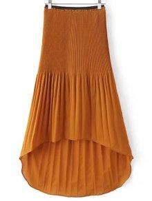 Hi-Lo Pleated Chiffon Skirt