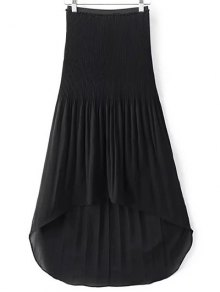 Hi-Lo Pleated Chiffon Skirt