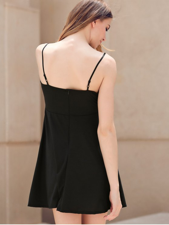Fit and Flare Lace-Up Dress - BLACK S Mobile