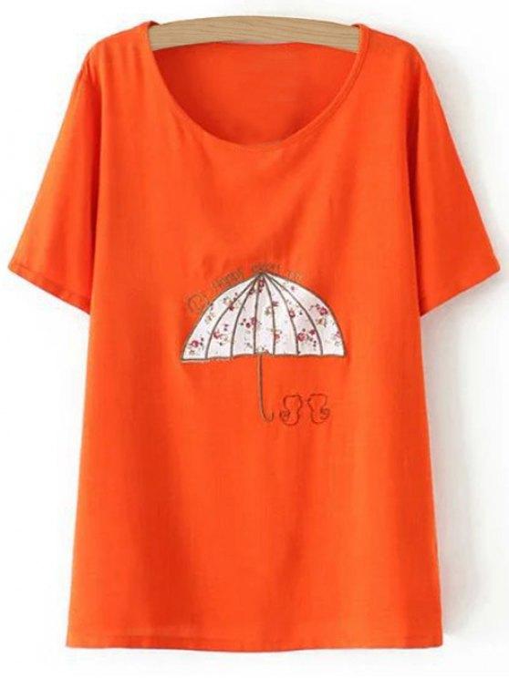 Más el tamaño del paraguas de la camiseta - Jacinto XL