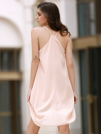 Irregular Hem Chiffon Cami Dress - APRICOT S Mobile