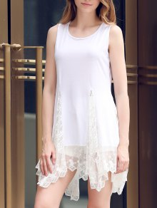 Lace Hem Swingy Tank Dress