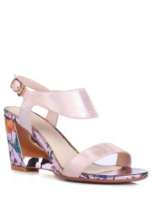 Print Candy Color Wedge Heel Sandals