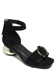 Metal Strange Heel Ankle Strap Sandals