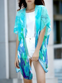 Colorful Chiffon Long Blouse