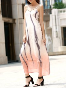 Printed Spaghetti Strap Maxi Dress