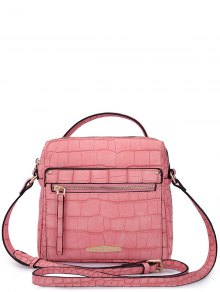 Candy Color Crocodile Print Tote Bag