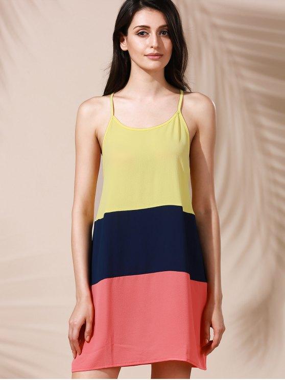 Color Block Mini Summer Dress - COLORMIX XL Mobile