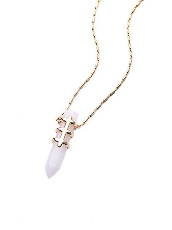 Bullet Shape Pendant Necklace -   Mobile