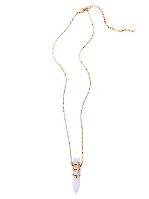 new Bullet Shape Pendant Necklace - WHITE  Mobile