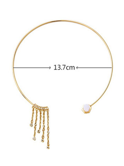 outfit Tassel Geometry Design Necklace - GOLDEN  Mobile
