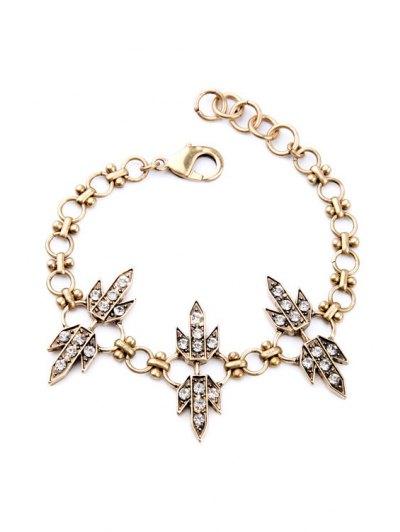 Rhinestone Grass Bracelet - GOLDEN  Mobile