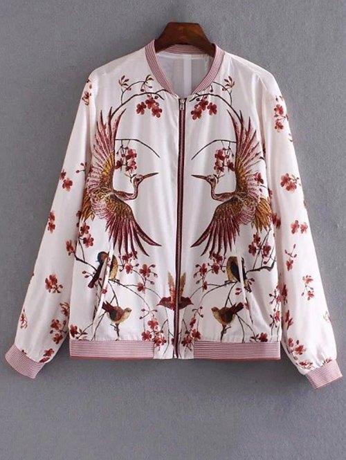 Bird Print Pilot Jacket