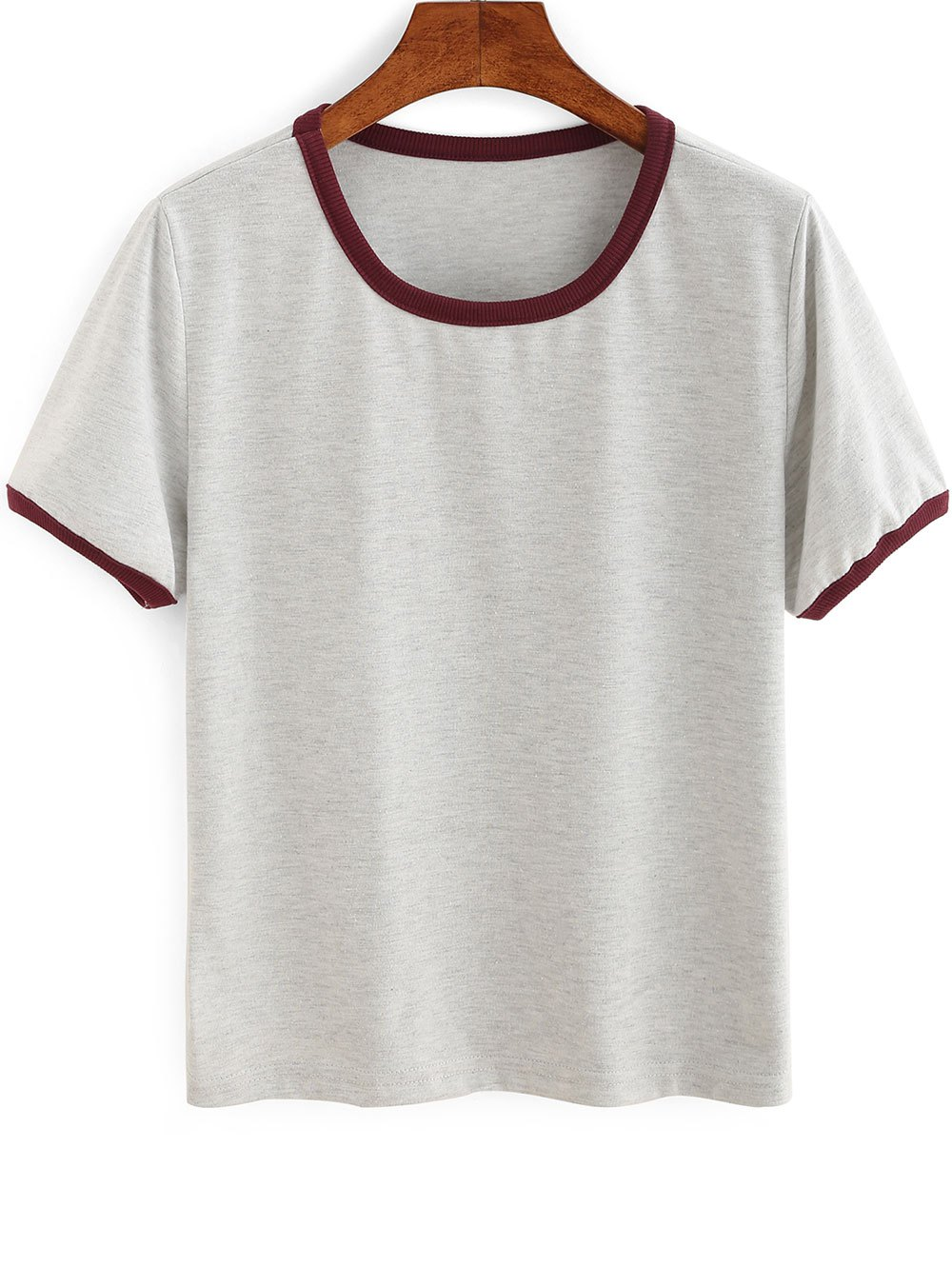 Short Sleeve Contrasting Piped T-Shirt