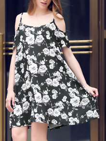 Full Floral Print Cami A Line Dress