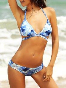 Tie Dye Halterneck Bikini Set
