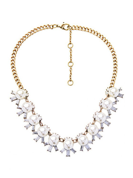 Faux Pearl Elegant Necklace -   Mobile