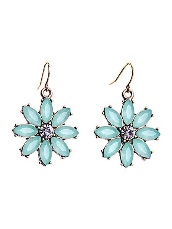 unique Tiny Floral Pendant Earrings - MINT GREEN