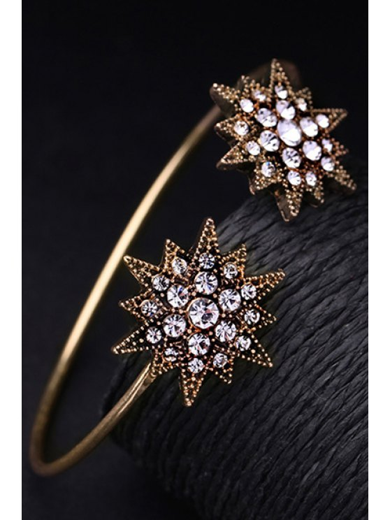 Rhinestone Star Cuff Bracelet -   Mobile