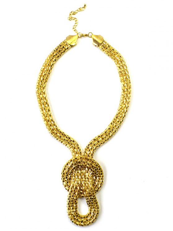 Knotted Snake Necklace - GOLDEN  Mobile