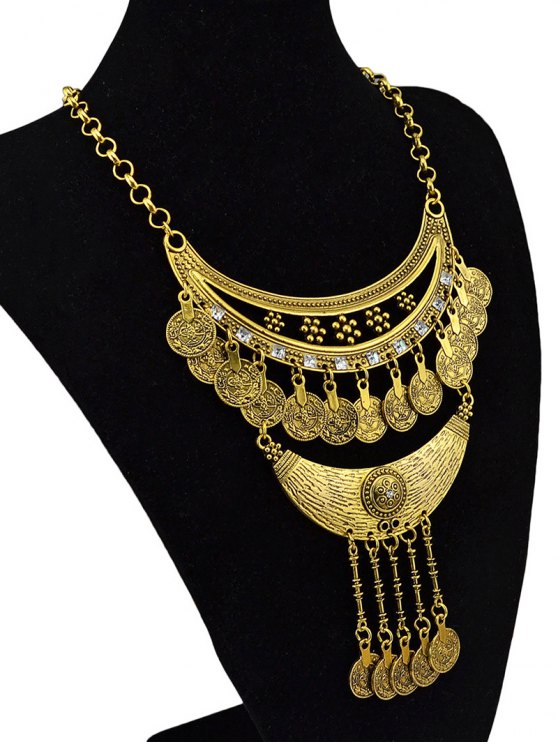 Round Pendant Ethnic Necklace -   Mobile