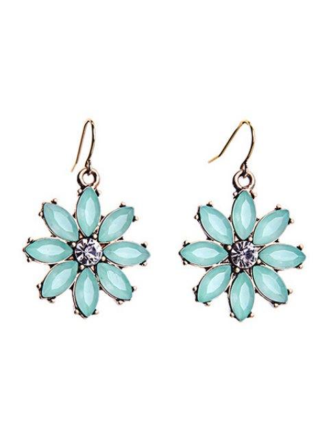 unique Tiny Floral Pendant Earrings - MINT GREEN  Mobile