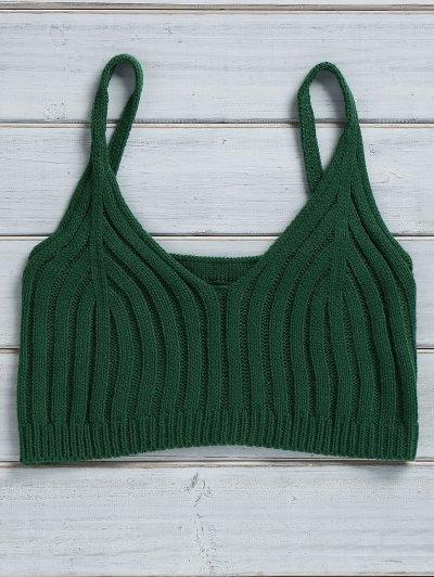 Cami Solid Color Knit Crop Top
