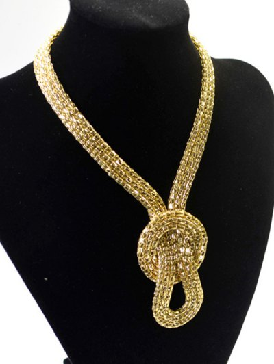 Knotted Snake Necklace - GOLDEN  Mobile