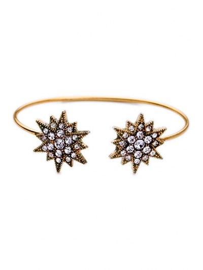 Rhinestone Star Cuff Bracelet - GOLDEN  Mobile