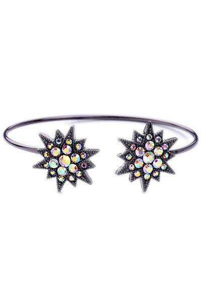 Rhinestone Star Cuff Bracelet