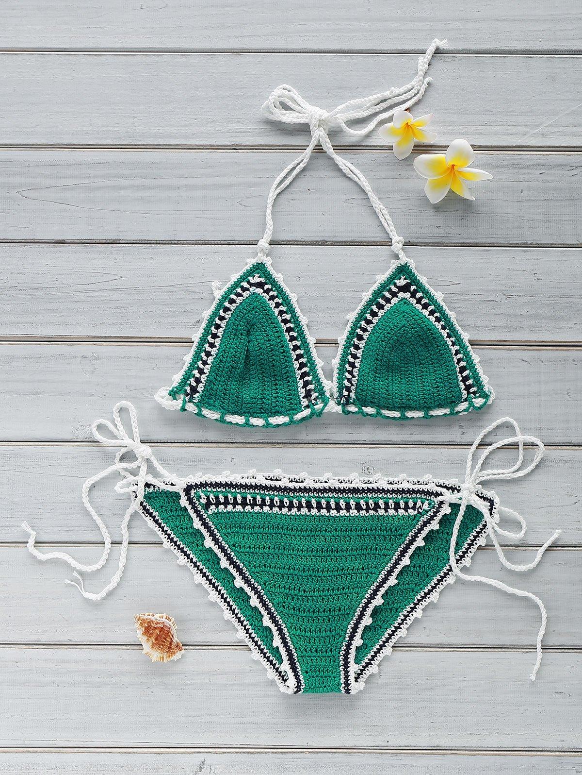 Crocheted String Bikini Set