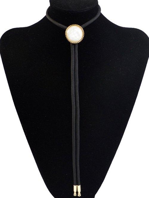 Round Resin Inlay Bolo Tie Necklace