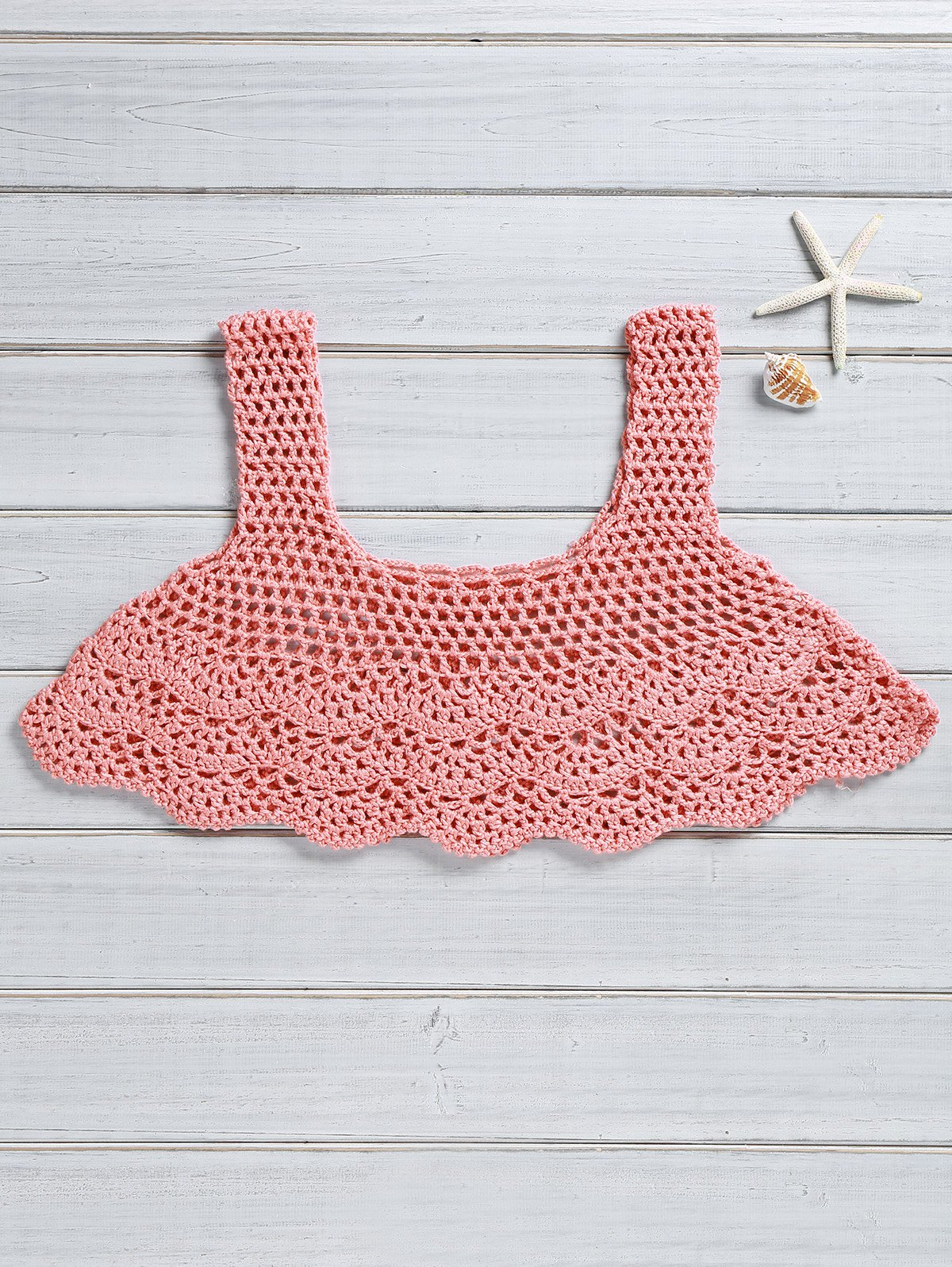 Knitted Flouncy Crop Top