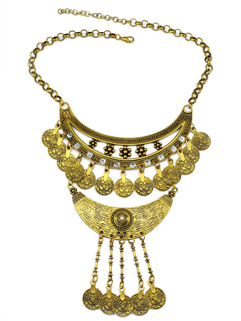 Round Pendant Ethnic Necklace