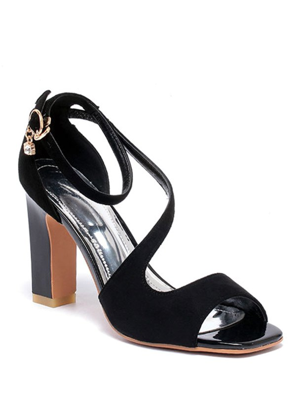 Chunky Heel Design Sandals For Women