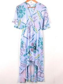 Cross-Over Chiffon Dress