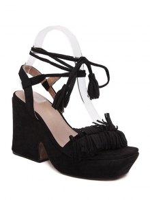 Buy Fringe Platform Chunky Heel Sandals