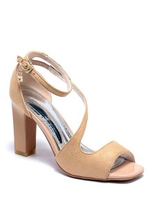 Chunky Heel Design Sandals For Women Image
